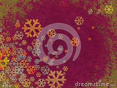 Christmas snow falling