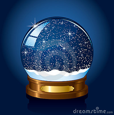 Free Christmas Snow Globe Royalty Free Stock Photos - 15016168
