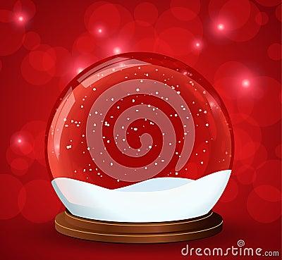Free Christmas Snow Globe With Glittering Lights Stock Photo - 16763940