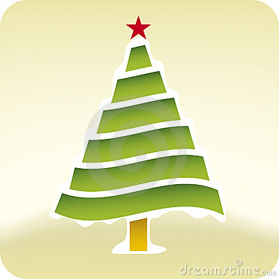 Christmas snow tree (vector)