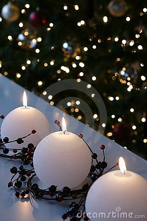 Christmas Snowball Candles