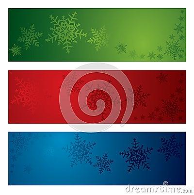 Christmas snowflake banners