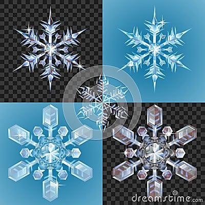 Christmas Snowflake design elements