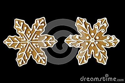 Christmas snowflake gingerbread cookies