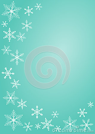 Christmas snowflake greeting card greeting card