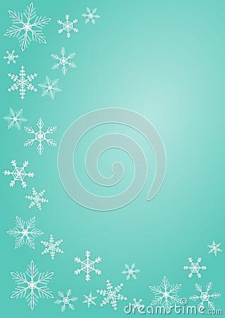Christmas snowflake greeting card greeting card
