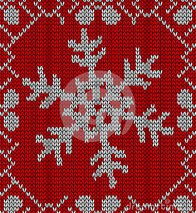 Christmas snowflake knitting pattern