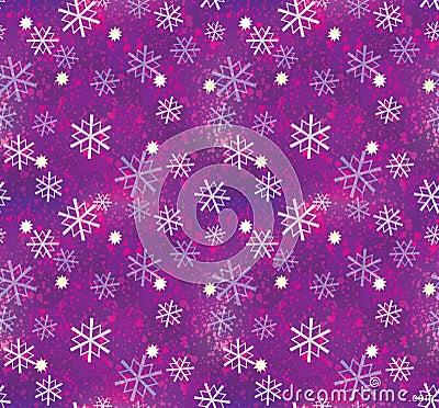 Christmas snowflake pattern seamless