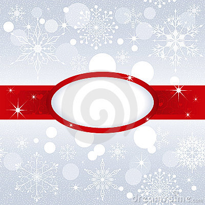 Christmas snowflake on silver color background