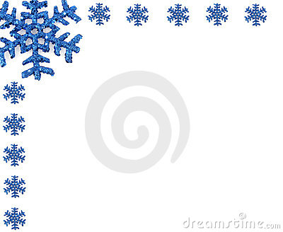 Christmas Snowflake with small snowflakes