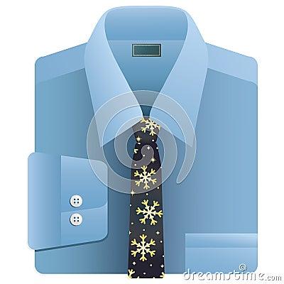 Christmas snowflake tie