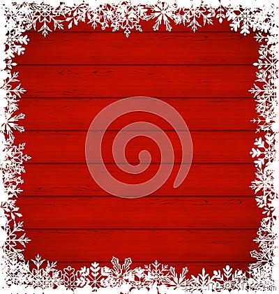 Free Christmas Snowflakes Border On Wooden Background Stock Photo - 45576380