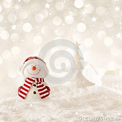 Free Christmas Snowman Stock Image - 46976611