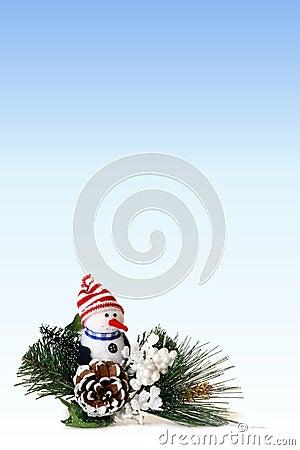 Christmas Snowman Background 1