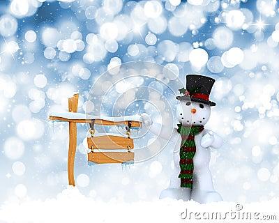Christmas snowman background