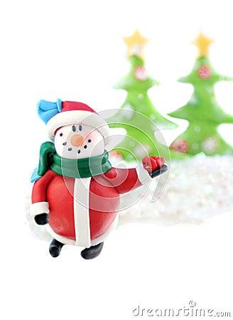 Free Christmas Snowman Card Stock Image - 11070521