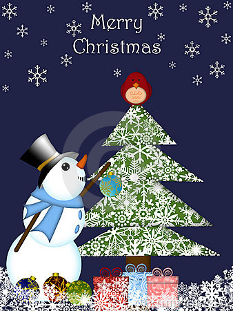 Christmas Snowman Hanging Ornament