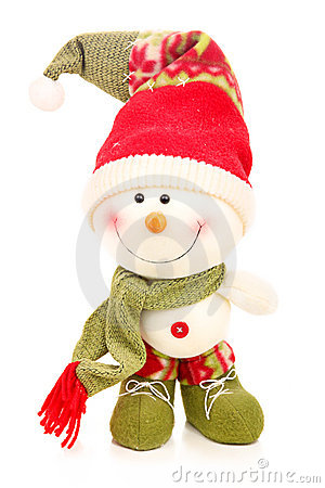 Christmas snowman isolated on a white