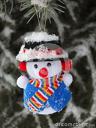 Free Christmas Snowman On Pine Tree - Stock Photos Stock Images - 35927474