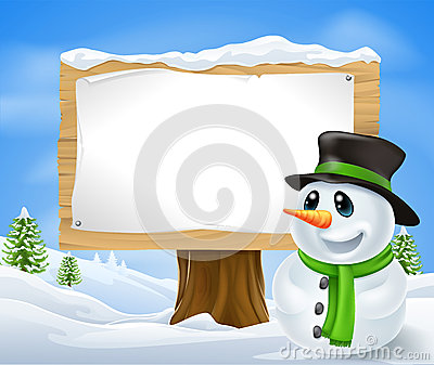 Christmas Snowman Sign