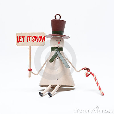 Christmas snowman on white