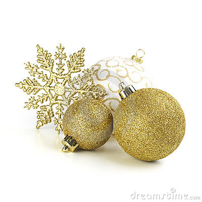 Christmas Snowstar And Balls