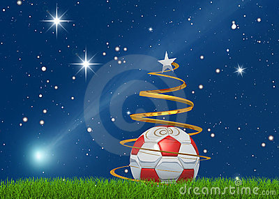 Christmas soccerball and comet