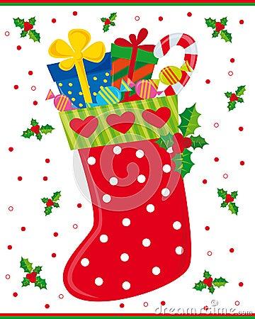 Free Christmas Sock Royalty Free Stock Photo - 7181805