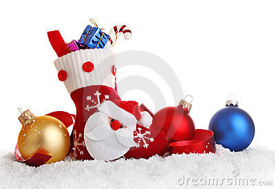 Christmas sock with decoration