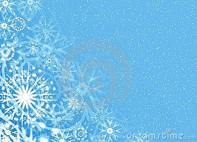 Christmas soft blue card