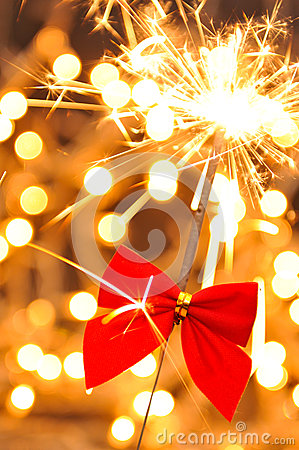 Free Christmas Sparkler Royalty Free Stock Photos - 35306138