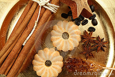 Christmas spices and sweets