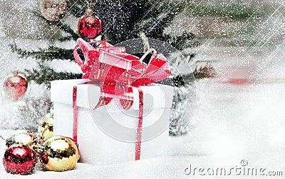 Christmas spirit with snow