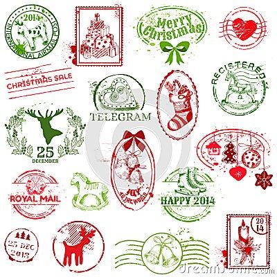 Christmas Stamp Collection