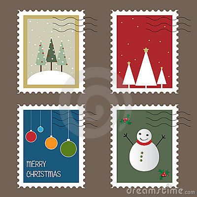 Free Christmas Stamps Royalty Free Stock Photos - 16115008