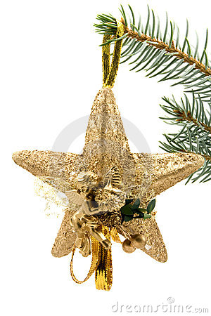 Christmas star with angel