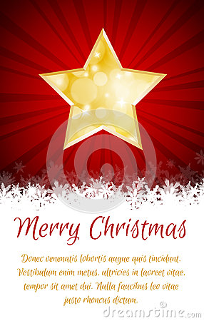 Christmas star card with place for text