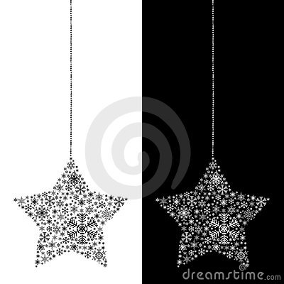 Christmas star isolated