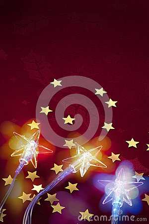Christmas Star Lights Background