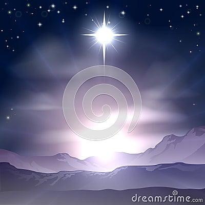 Free Christmas Star Of Bethlehem Nativity Royalty Free Stock Photo - 33723165