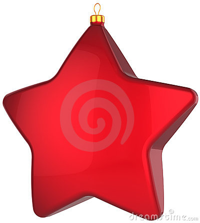 Christmas star shape bauble total red