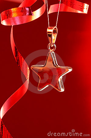 Christmas star and streamers