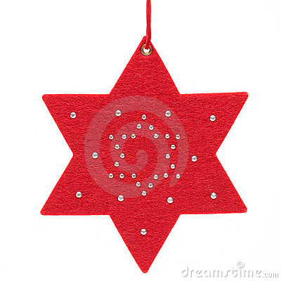 Christmas star on white