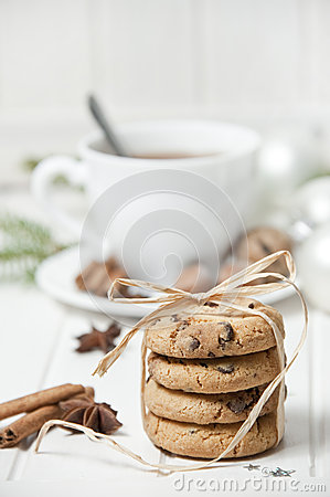 Christmas still life with biscuits