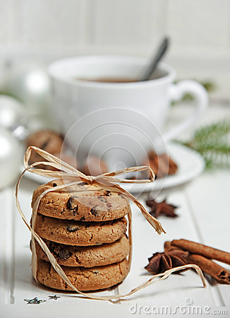 Free Christmas Still Life With Biscuits Royalty Free Stock Image - 96838276