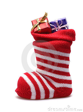 Free Christmas Stocking And Presents Royalty Free Stock Photography - 3804757