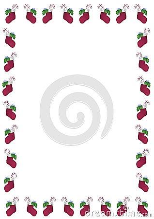 Christmas Stocking Border Royalty Free Stock Photo Image