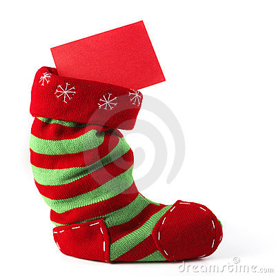Christmas Stocking With Card