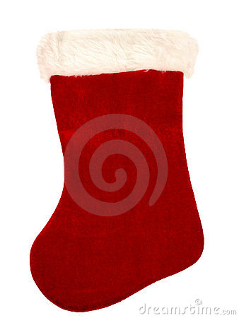 Free Christmas Stocking On White Stock Photography - 40732