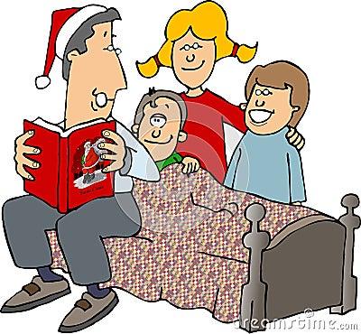 Christmas Stories Cartoon Illustration